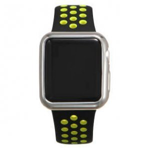 Силиконовый чехол Coteetci серебристый для Apple Watch 3/2 38мм