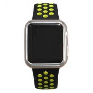 Силиконовый чехол Coteetci серебристый для Apple Watch 2 38мм
