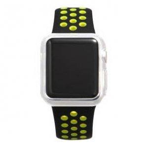 Силиконовый чехол Coteetci прозрачный для Apple Watch 3/2 42мм