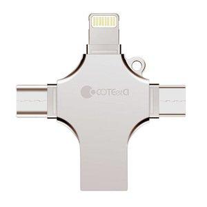 Флеш память COTEetCI U70 USB 3.0 256Gb золотая