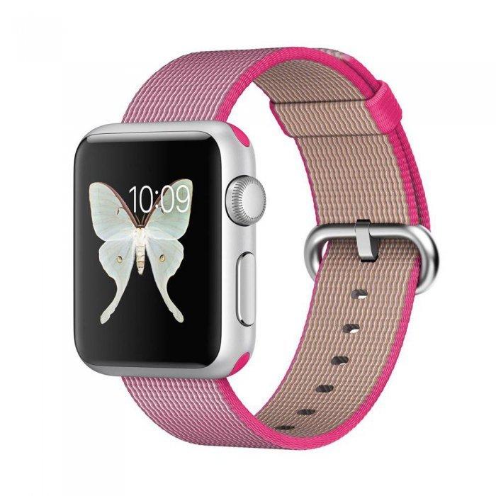 Нейлоновый ремешок COTEetCI W11 розовый для Apple Watch 42/44 мм