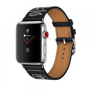 Кожаный ремешок COTEetCI W13 черный для Apple Watch 38mm