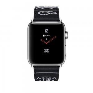 Кожаный ремешок COTEetCI W13 черный для Apple Watch 38/40 мм