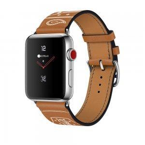 Кожаный ремешок COTEetCI W13 коричневый для Apple Watch 42mm