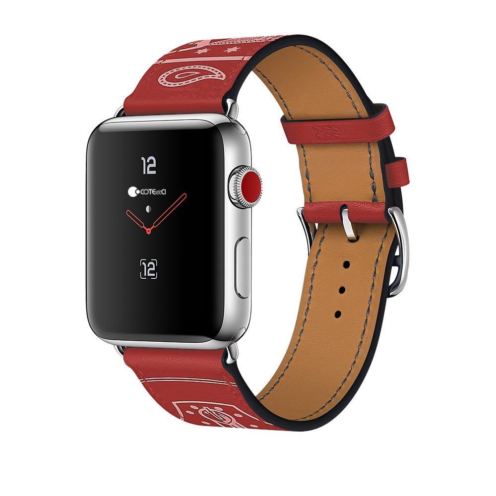 Кожаный ремешок COTEetCI W13 красный для Apple Watch 42/44 мм