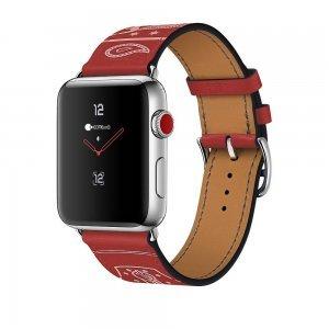 Кожаный ремешок COTEetCI W13 красный для Apple Watch 38/40 мм