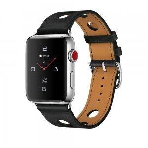 Кожаный ремешок COTEetCI W15 черный для Apple Watch 38/40 мм