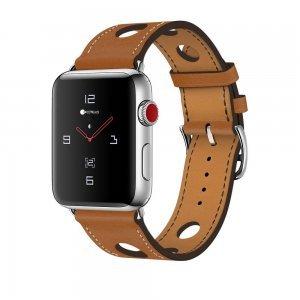 Кожаный ремешок COTEetCI W15 коричневый для Apple Watch 42/44 мм