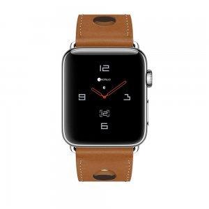 Кожаный ремешок COTEetCI W15 коричневый для Apple Watch 38/40 мм