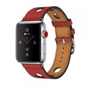 Кожаный ремешок COTEetCI W15 красный для Apple Watch 38/40 мм