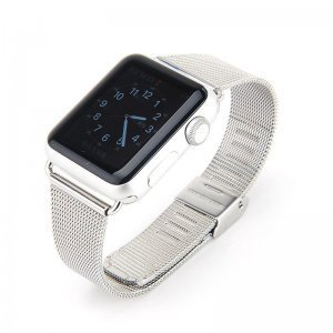 Ремешок для Apple Watch 42мм - Coteetci W2 серебристый
