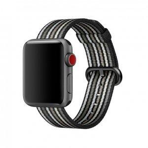 Ремешок COTEetCI W30 Rainbow черный для Apple Watch 38/40mm