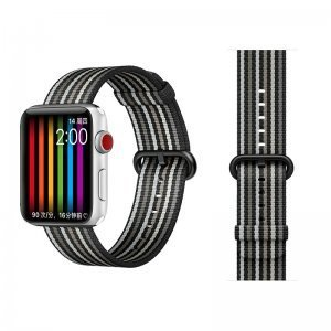Ремешок COTEetCI W30 Rainbow черный для Apple Watch 38mm