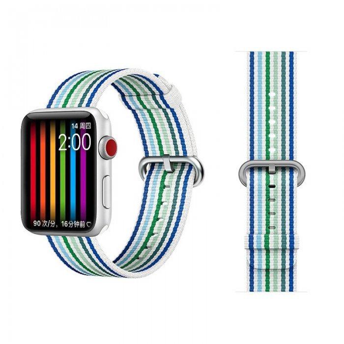 Ремешок COTEetCI W30 Rainbow синий для Apple Watch 42/44mm