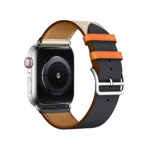 Ремешок Coteetci W36 синий + оранжевый для Apple Watch 42mm/44mm