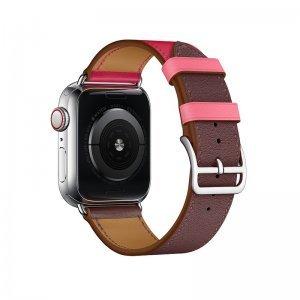 Ремешок Coteetci W36 бордовый + розовый для Apple Watch 38mm/40mm
