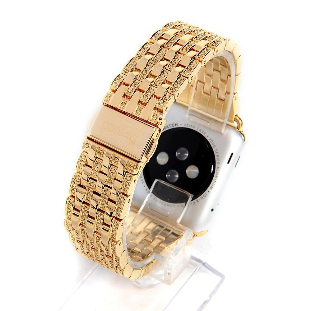 Ремешок для Apple Watch 38/40 мм - COTEetCI W4 Magnificent золотистый