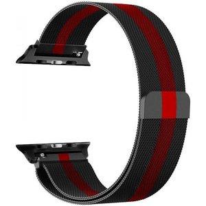 Ремешок Coteetci W6 черный+красный для Apple Watch 42/44 мм