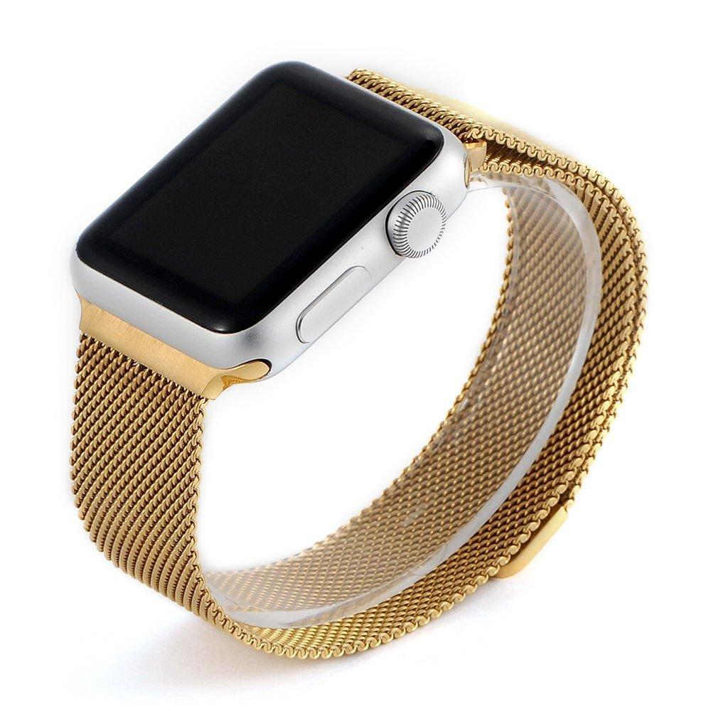 Ремешок Coteetci W6 золотой для Apple Watch 38/40 мм
