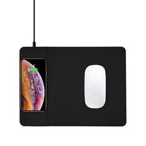 Беспроводное ЗУ + коврик для мышки Coteetci черный