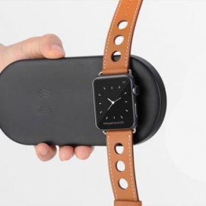Беспроводное зарядное устройство Coteetci WS-7 черное для Apple Watch и iPhone