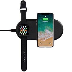 Беспроводное зарядное устройство Coteetci WS-7 черное для Apple Watch и iPhone (уценка)