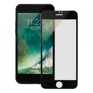 Защитное стекло для Apple iPhone 7 Plus - Coteetci silk screen printed full-screen 0,15мм, глянцевое, черное