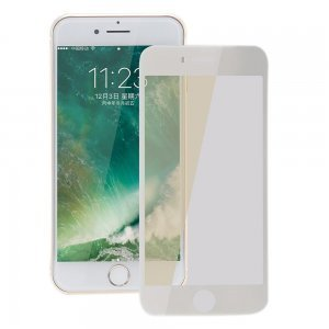 Защитное стекло Coteetci silk screen printed full-screen 0,15мм, глянцевое, белое для iPhone 7