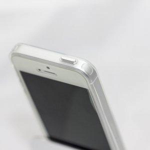 Силиконовый чехол Coteetci ABS серебристый + прозрачный для iPhone 5/5S/SE