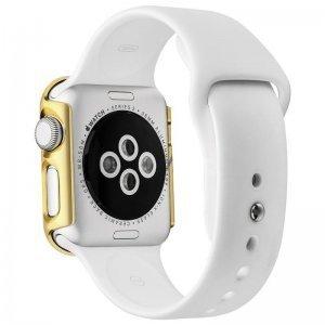 Пластиковый чехол Coteetci золотой для Apple Watch 42мм (Серии 1-3)