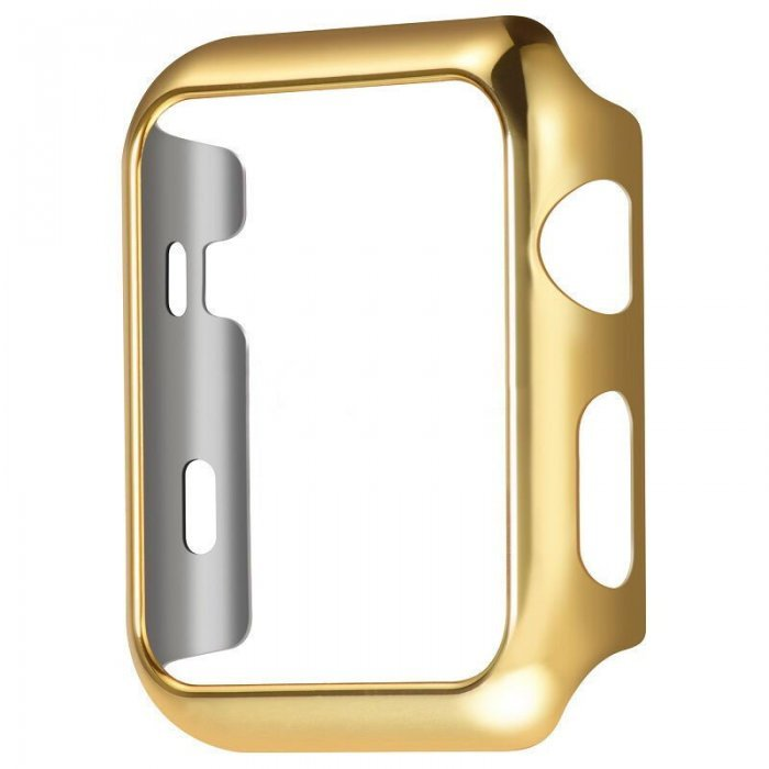 Пластиковый чехол Coteetci золотой для Apple Watch 38мм (Серии 1-3)