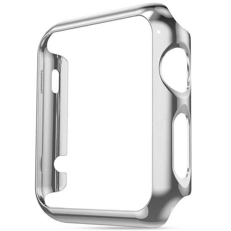 Пластиковый чехол Coteetci серебристый для Apple Watch 38мм (Серии 1-3)
