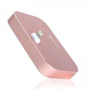 Док-станция для Apple iPhone - Coteetci Base12 розовое золото