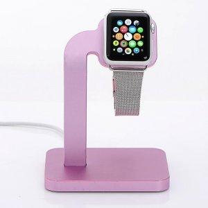 Док-станция Coteetci Base4 розовая для Apple Watch