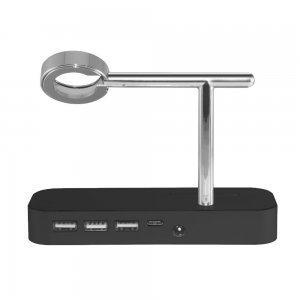 Док-станция Coteetci Base Hub B18 для iPhone, Apple Watch с 3 USB, Type-C чёрная