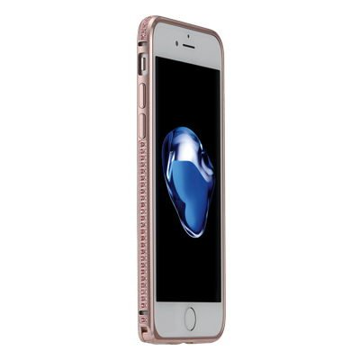 Бампер со стразами Coteetci Diamond розовое золото для iPhone 7 Plus/8 Plus