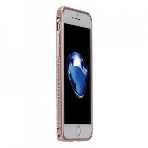 Бампер со стразами Coteetci Diamond розовое золото для iPhone 7 Plus