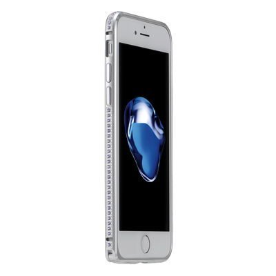 Бампер со стразами Coteetci Diamond серебристый для iPhone 7 Plus/8 Plus