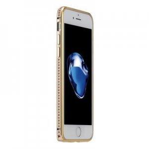 Бампер со стразами Coteetci Diamond золотой для iPhone 7 Plus