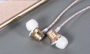 Наушники COTEetCI EH01-METAL золотистые
