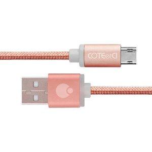 Кабель micro-usb COTEetCI M23, 2м, розовое золото