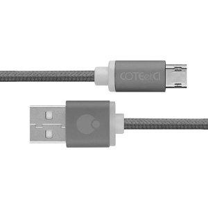 Кабель COTEetCI M23 micro-usb 1.2м, серый