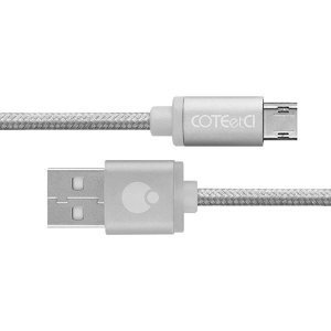 Кабель micro-usb COTEetCI M23, 2м, серебристый