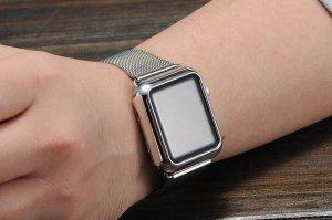 Чехол-накладка для Apple Watch 38мм - Coteetci серебристый