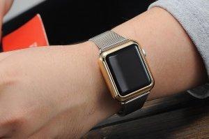 Чехол-накладка для Apple Watch 42мм - Coteetci золотистый