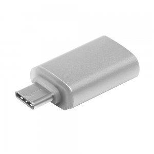 Переходник COTEetCI с USB на Micro-USB серебристый