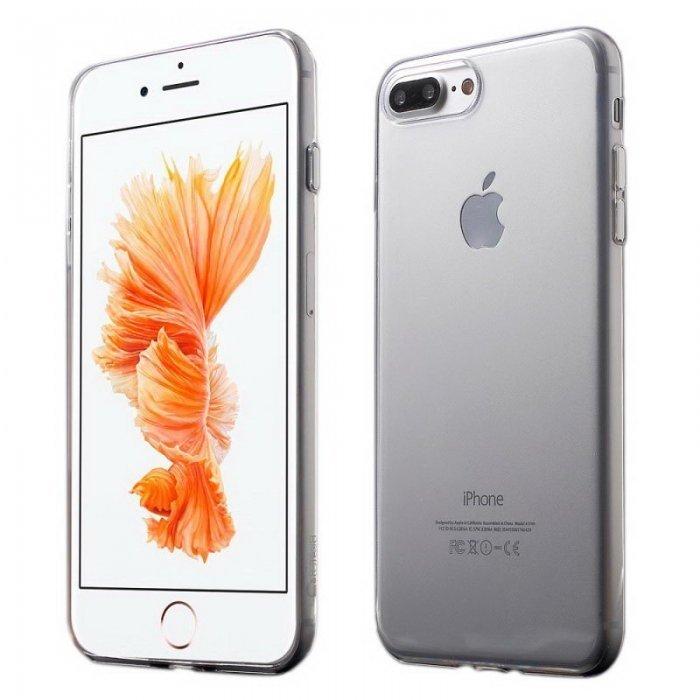 Ультратонкий чехол Coteetci серебристый + прозрачный для iPhone 8 Plus/7 Plus