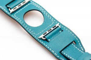 Ремешок Coteetci W10 Hermes голубой для Apple Watch 38/40 мм