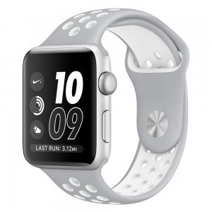 Ремешок Coteetci W12 Nike серый + белый для Apple Watch 42mm