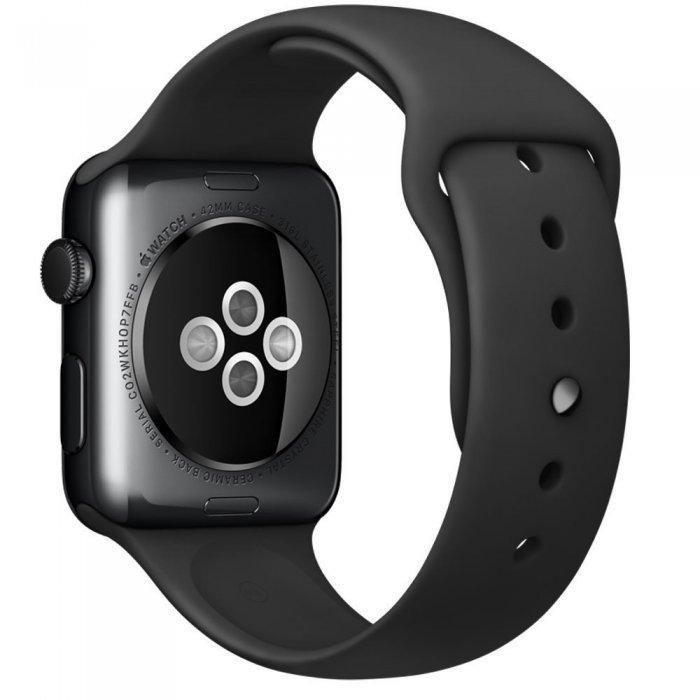 Ремешок для Apple Watch 38/40 мм - Coteetci W3 чёрный